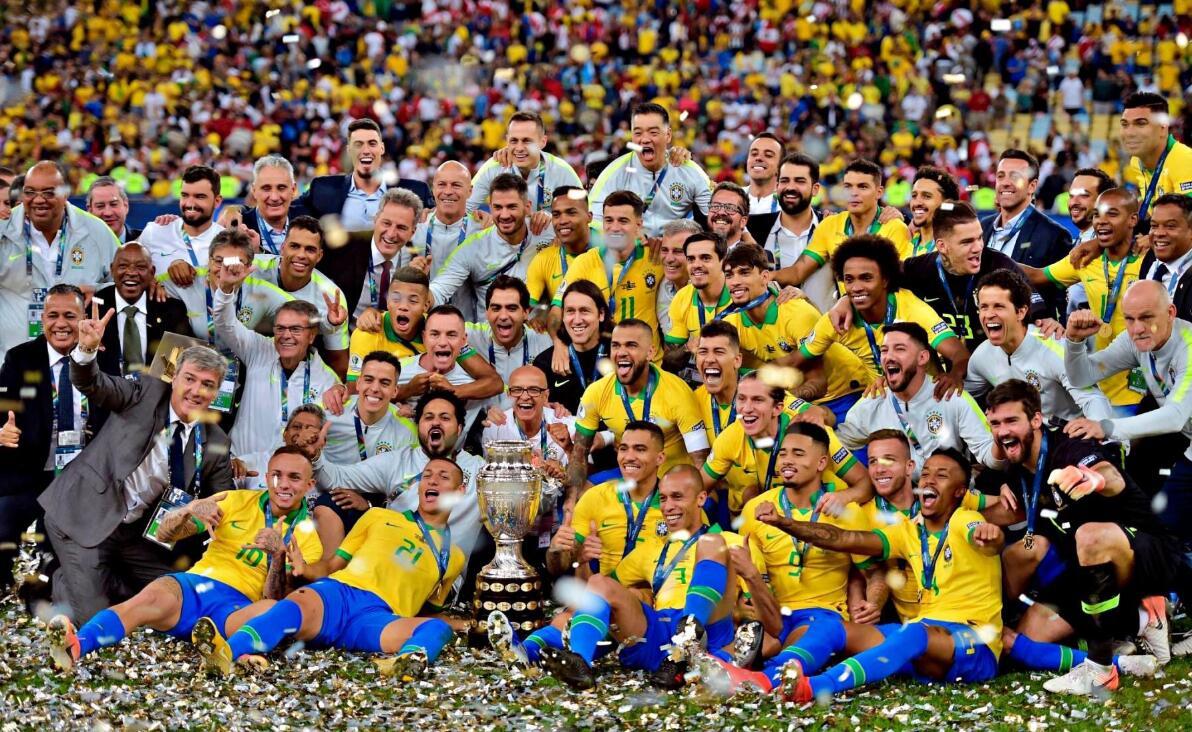美洲杯-热苏斯传射+染红 巴西3-1灭秘鲁第9次夺冠!