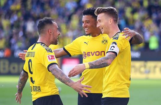 德甲第4轮-多特主场4-0大胜勒沃库森 罗伊斯梅开二度桑乔2助攻