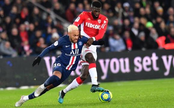 法甲-巴黎3-3闷平摩纳哥止6连胜 内马尔2球+造乌龙