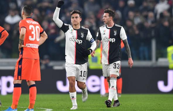 意大利杯-尤文主场4-0击败乌迪内斯晋级8强 迪巴拉两射一传