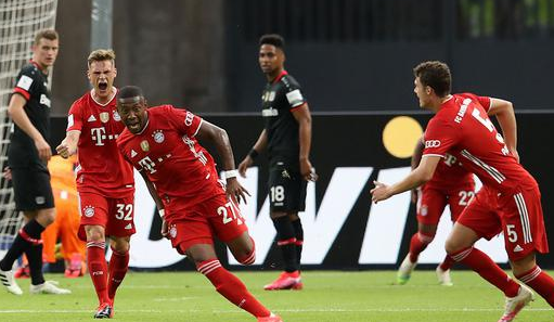 德国杯-拜仁4-2药厂夺双冠 莱万梅开二度阿拉巴任意球