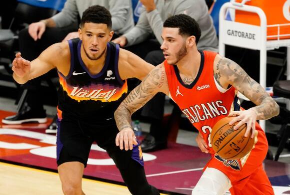 NBA-太阳6人得分上双以111-86大胜鹈鹕 艾顿13+12 克劳德21分 锡安20分