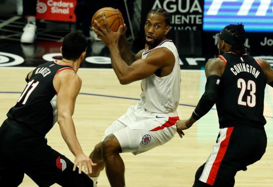 NBA-乔治36分小卡全能29+12+7 快船133-116轻取开拓者
