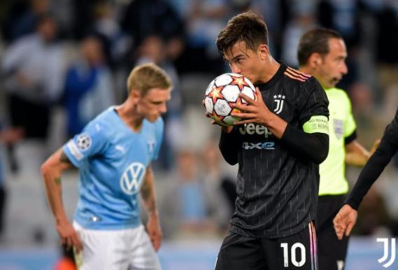 欧冠-尤文3-0大胜马尔默 莫拉塔破门+造点迪巴拉建功