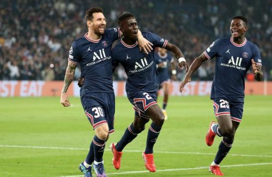 欧冠-梅西破门收获处子球盖耶建功 巴黎2-0完胜曼城