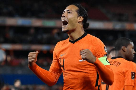 世预赛-荷兰6-0直布罗陀 德佩两射两传范迪克破门